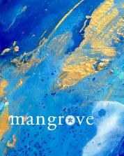 "The cover for Mangrove's Spring 2017 issue was painted by University of Miami student Talytha Campos. ""Golden Waves,"" 12"" x 12"", acrylic and resin on canvas."